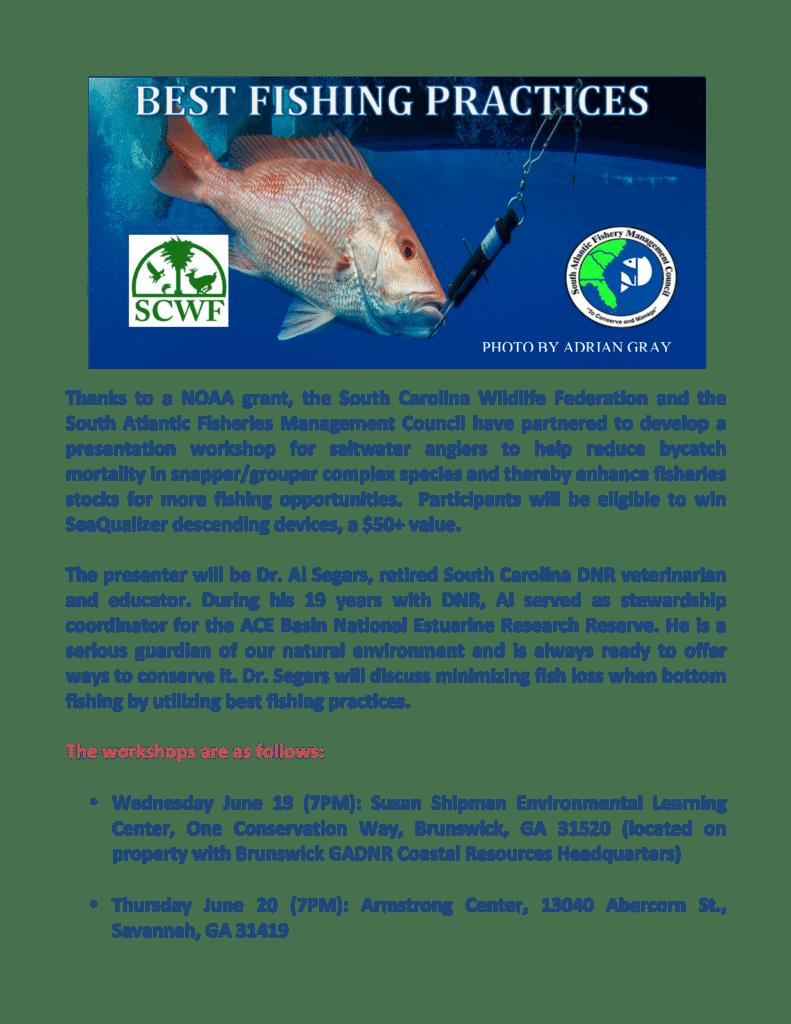 Best Fishing Practices Workshop/Presentation – Coastal